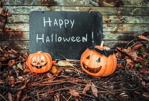 Happy Halloween Wooden Photography Prop Backdrop Fall Backdrop