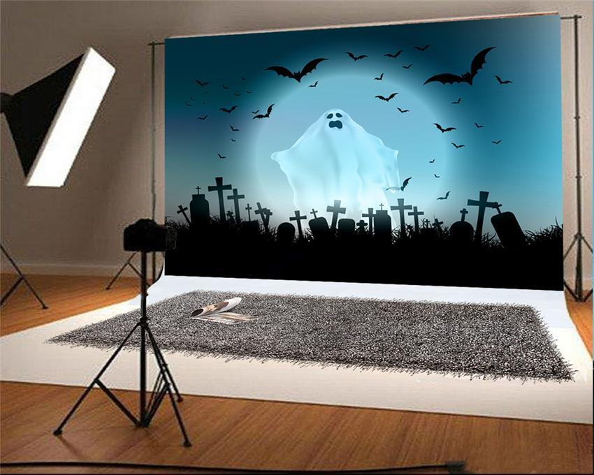 Ghost Bats Halloween Photography Backdrop