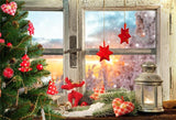 Window Snow Winter Christmas Backdrops for Studio