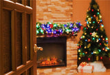Christmas Brick Fireplace Backdrops