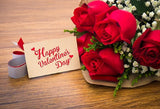 Red Rose Photography Background For Happy Valentine's Day Backdrop