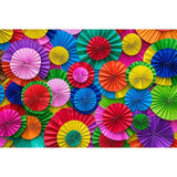 Printed Colorful Pinwheel Backdrop For Celebrate Mother's Day Photography