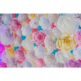 Printed Colorful Flower Backdrop For Celebrate Mother's Day Photography