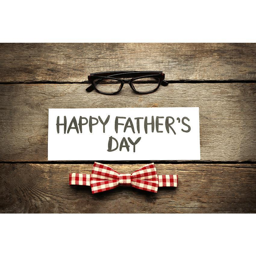 Printed Wood Floor Backdrop Father's Day Celebration Photography Background