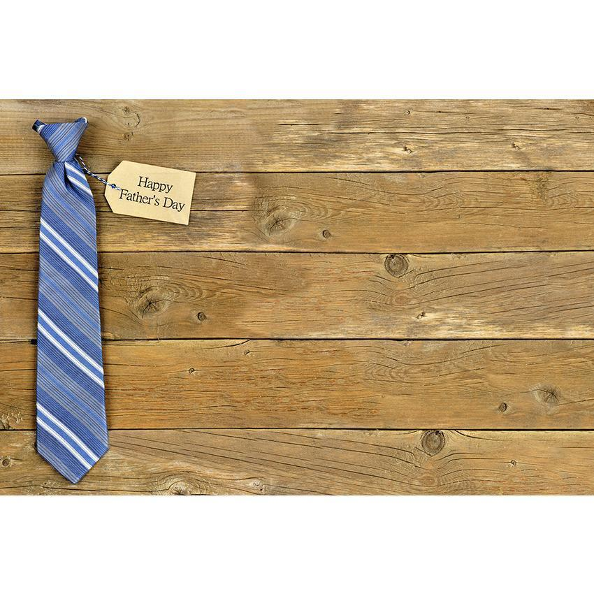 Fathers Necktie On Brown Wood Floor Backdrop for Celebrate Father's Day