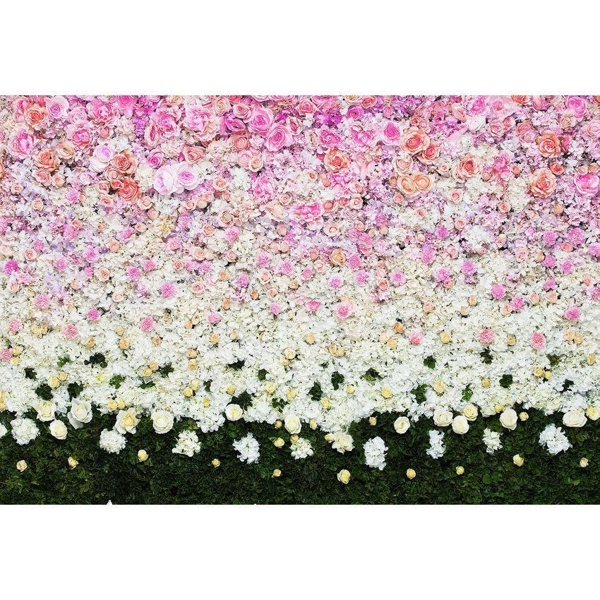 Printed Gradient Flower Wall Backdrop For Photography Background