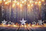 Wood Bright Christmas Snow Photo Backdrops