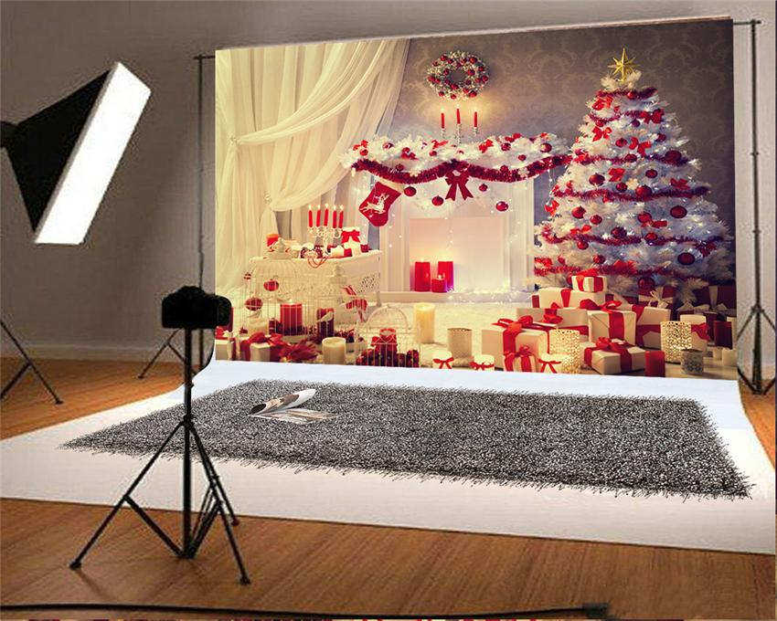 White Christmas Tree Backdrop for Photo Studio