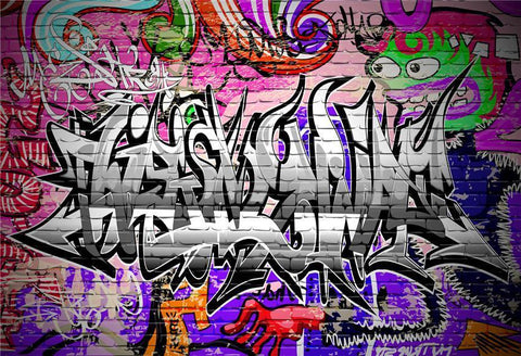 Abstract Graffiti Brick Wall Photography Backdrops
