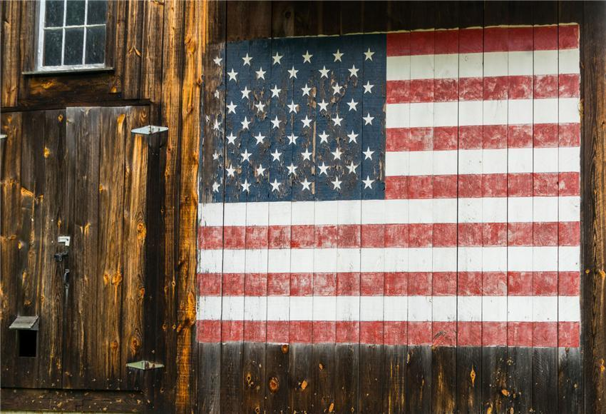Wood Wall Independence Day Photography Backdrops