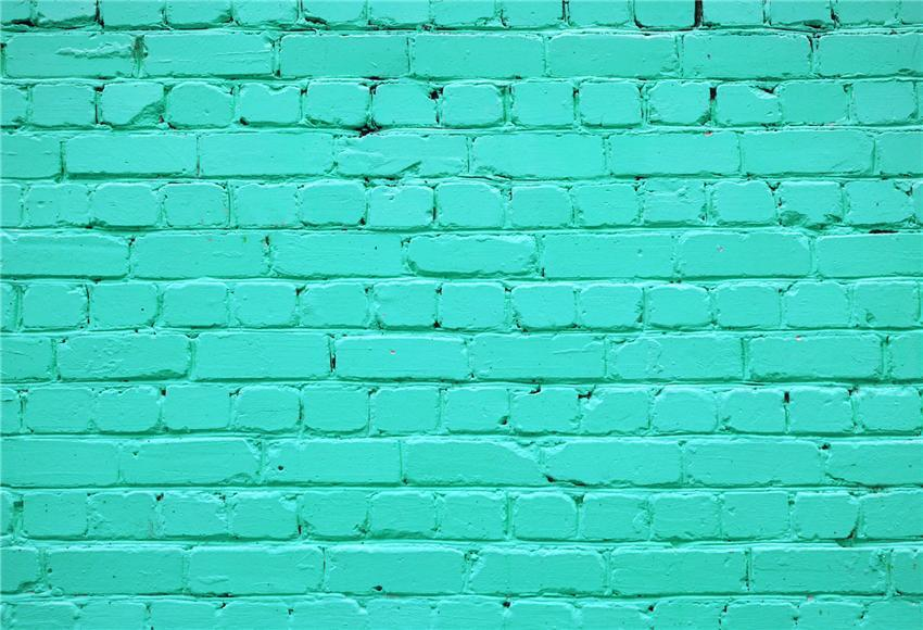 Mint Brick Wall Portrait PHOTO Backdrop for Party