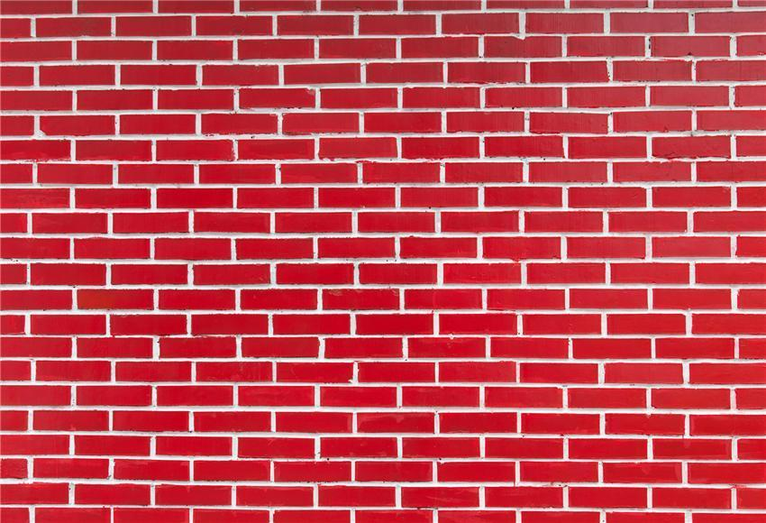 Red Brick Photo Booth Prop Background for Party