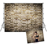 Vintage Grey Brick Wall Sports Backdrop for Photo Booth Prop