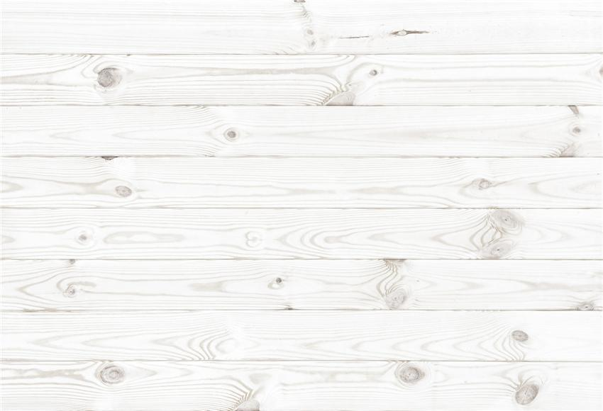 White Wood Texture Wall Portrait Backdrop for Photos