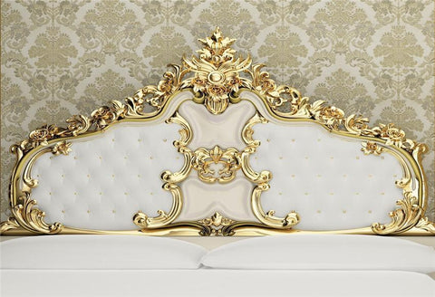 White and Gold Headboard Photo Studio Backdrop for Picture