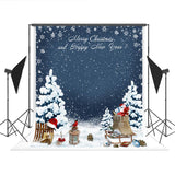 Merry Christmas Snow Fence Backdrops for Winter