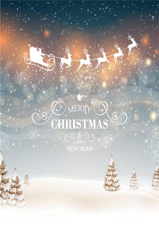 Merry Christmas Dream Santa Claus Backdrops