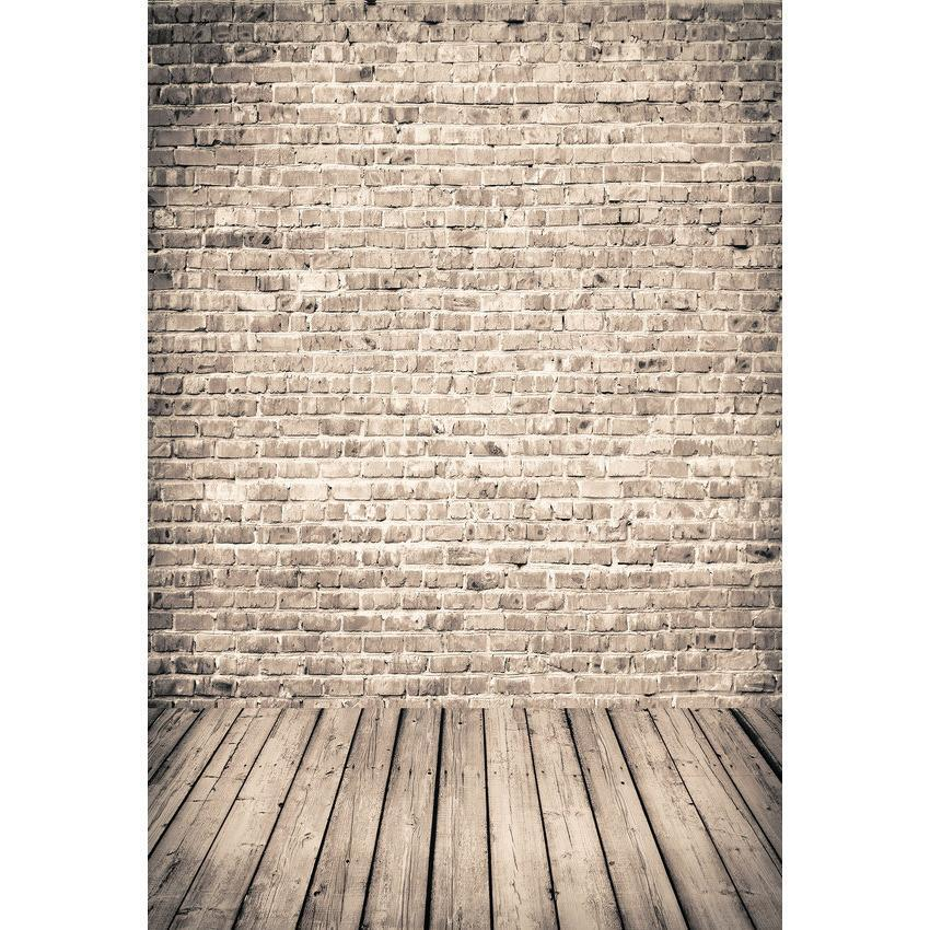Brick Wall With Wood Floor Background For Photography Backdrop