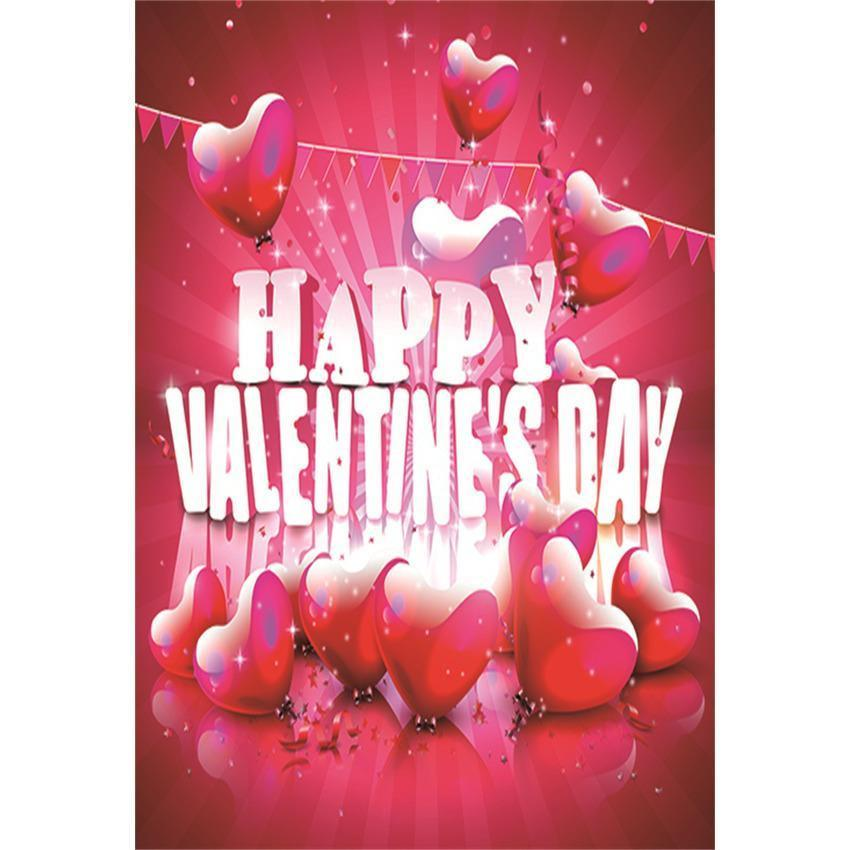 Red Hearts Photography Background For Happy Valentine's Day Backdrop
