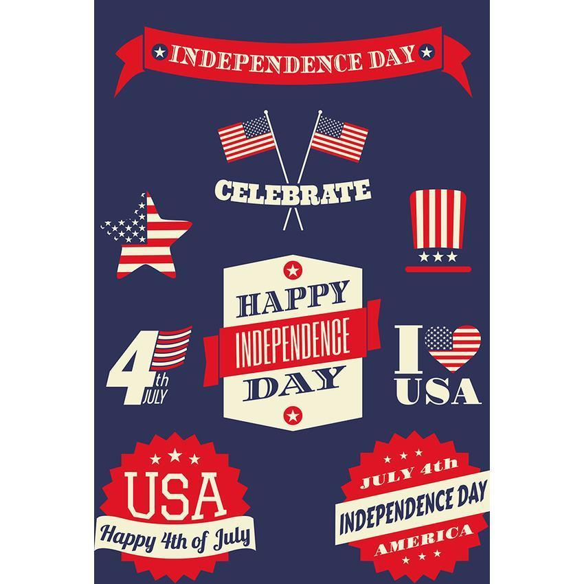 Painted American Flag Pattern For Celebrate Independence Day Backdrop