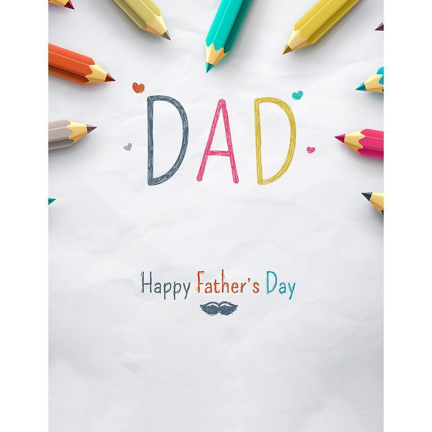 Happy Father's Day Pencil Decoration Background for Photography Backdrop