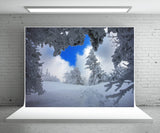 Snow Tree Backdrop For Photography Winter Background