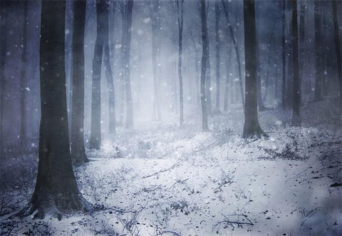 Snowflake Forest Photo Backdrop Winter Background