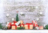 White Snowflake Wood Photography Backdrop Christmas Gift Background