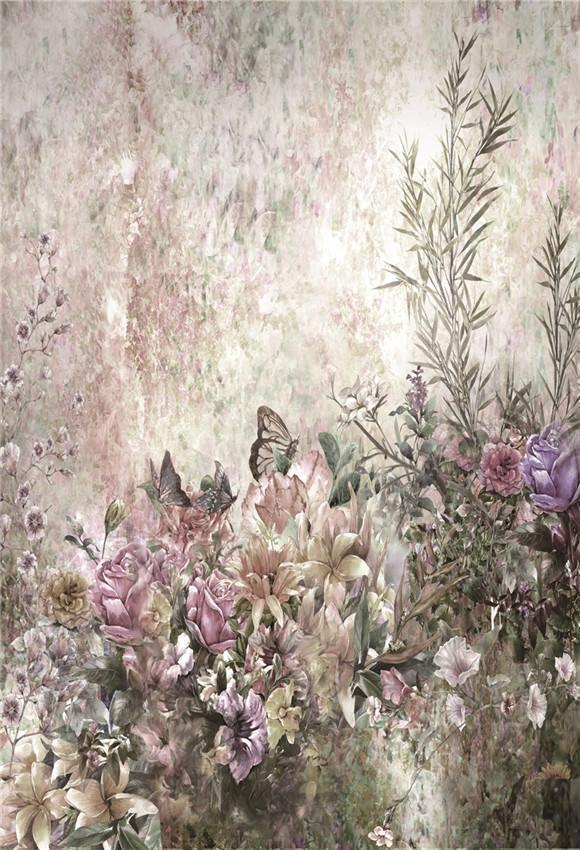Butterfly Flowers Photography Backdrops