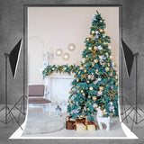 Green Christmas Tree Backdrop for Photography Prop