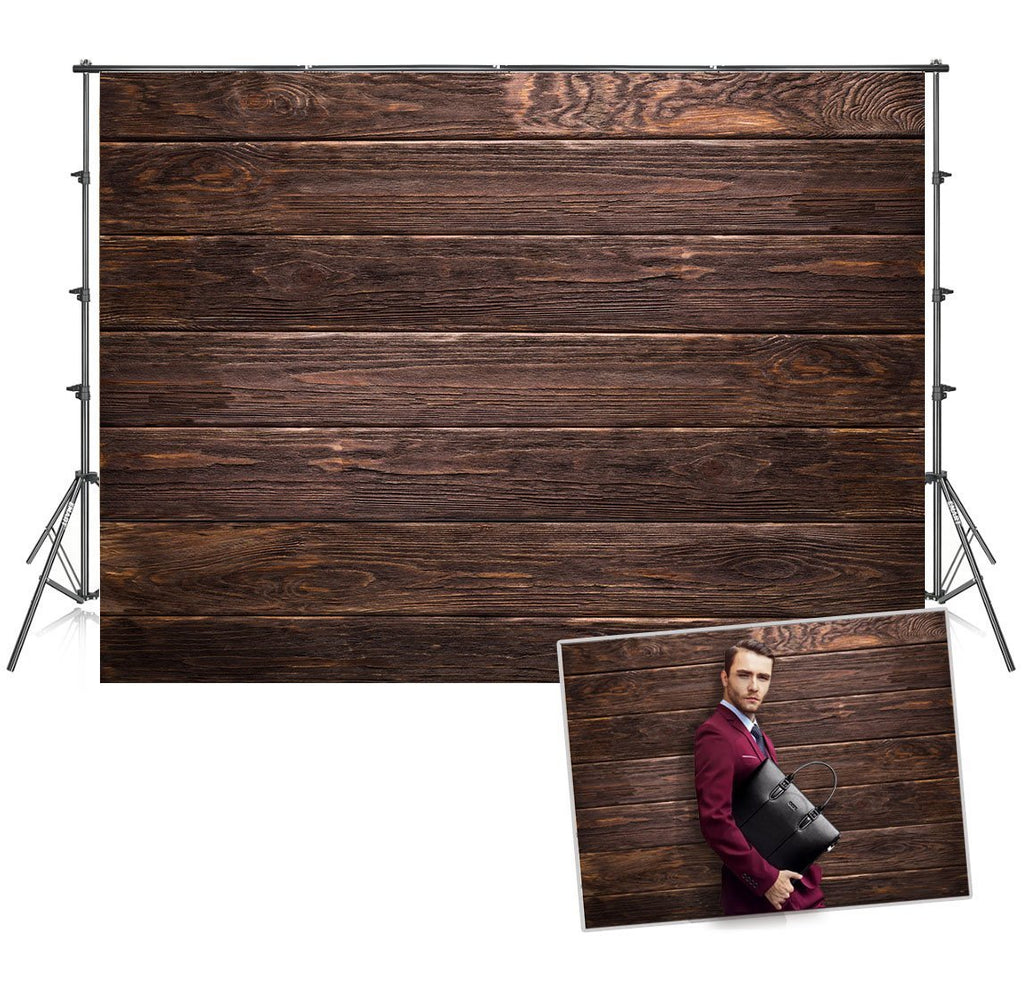 Dark Wooden Wall Backdrop for Photography Studio Prop