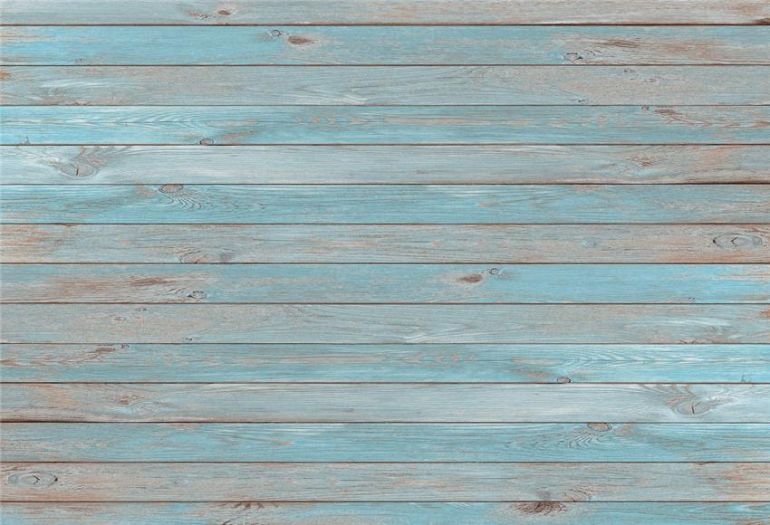 Vintage Grey Blue Wood Wall Backdrop for Photos