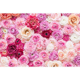 Printed Colorful Vivid Flowers Wall  Backdrop For Photography