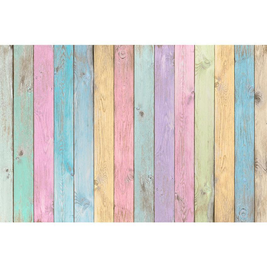 Colorful Wood Floor Texture Backdrop for Photography Photo Booth