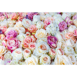 Printed Brilliant Floral Wall Photography Backdrop For Events