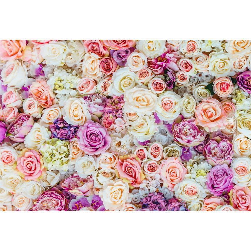 Printed Brilliant Floral Wall  Backdrop For Events Photography