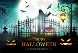 Ghost Bats Door of Hell Happy Halloween Backdrop