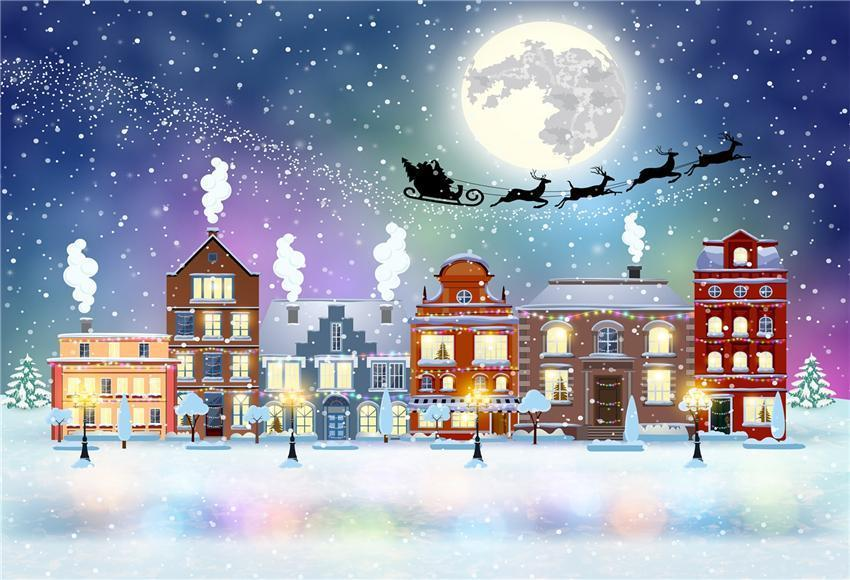 Winter Snow Christmas Photography Backdrops