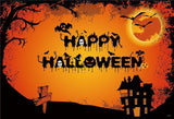 Black Castle Halloween Photo Backdrop for Party