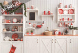 9x10ft Kitchen Christmas Photography Backdrop for Tester