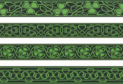 St. Patrick's Day Green Backdrop Clover Leaves Background