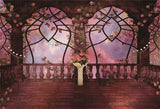 Vintage Flowers Observation Deck Wedding Backdrop