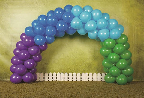 Balloon Door Abstract Fence Birthday Backdrops