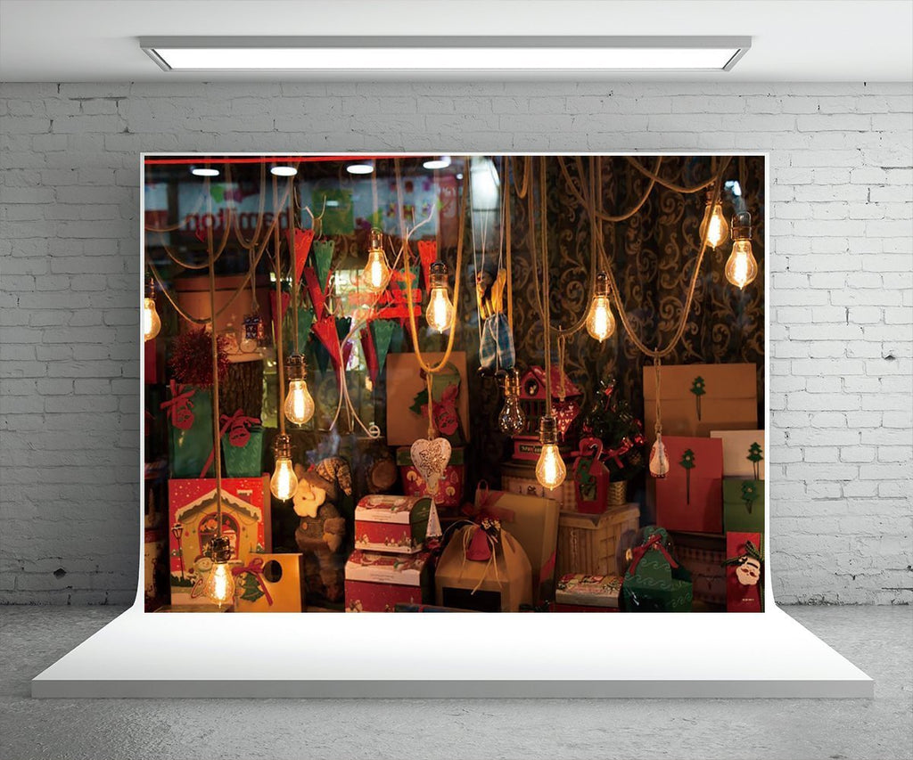 Bright Light Christmas Gift Photography Backdrops