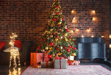 Dark Brick Wall Christmas Backdrop for Party
