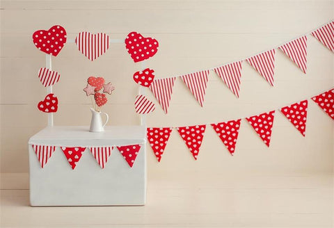 Valentine's Day Red Heart Photo Backdrop