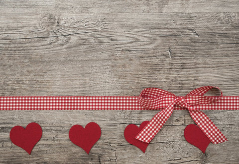 Wood Wall Red Heart Valentine's Day Photo Backdrops