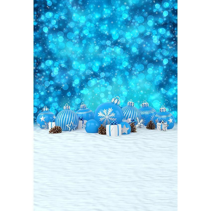 Blue Backdrop With Snow Floor Photography Background
