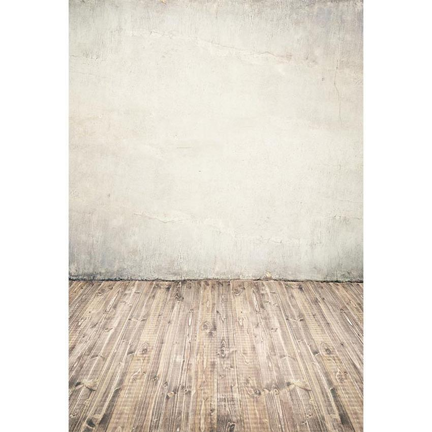 White Wall Old Wood Floor Texture Backdrop For Photography