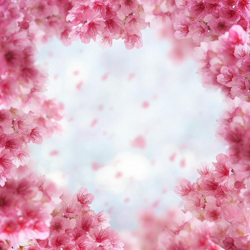 Pink Spring Flowers Bokeh Wall Backdrop For Photography
